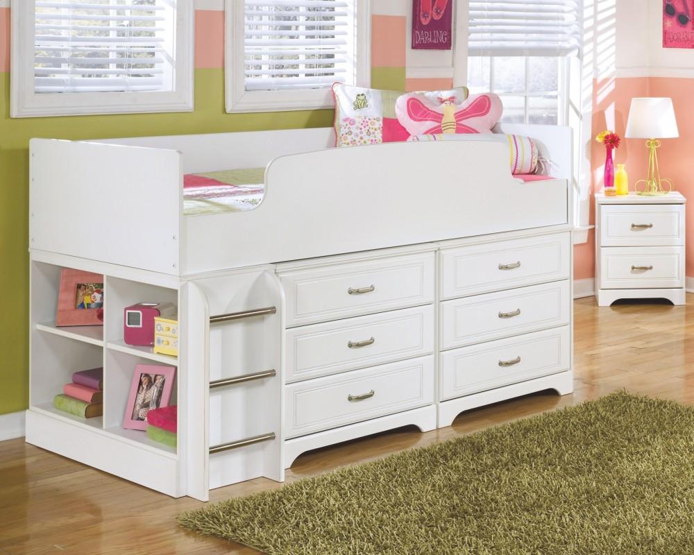 Lulu Twin Loft Bed With 6 Drawer Storage B102b18
