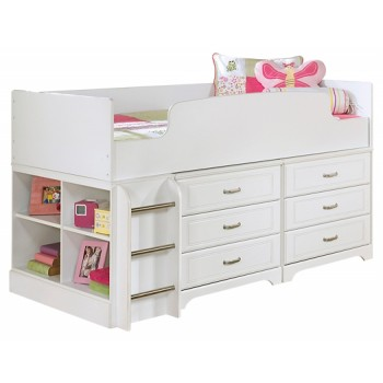 Lulu - Lulu Twin Loft Bed with 6 Drawer Storage