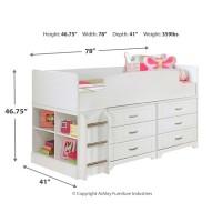 Lulu - Twin Loft Bed with 6 Drawer Storage