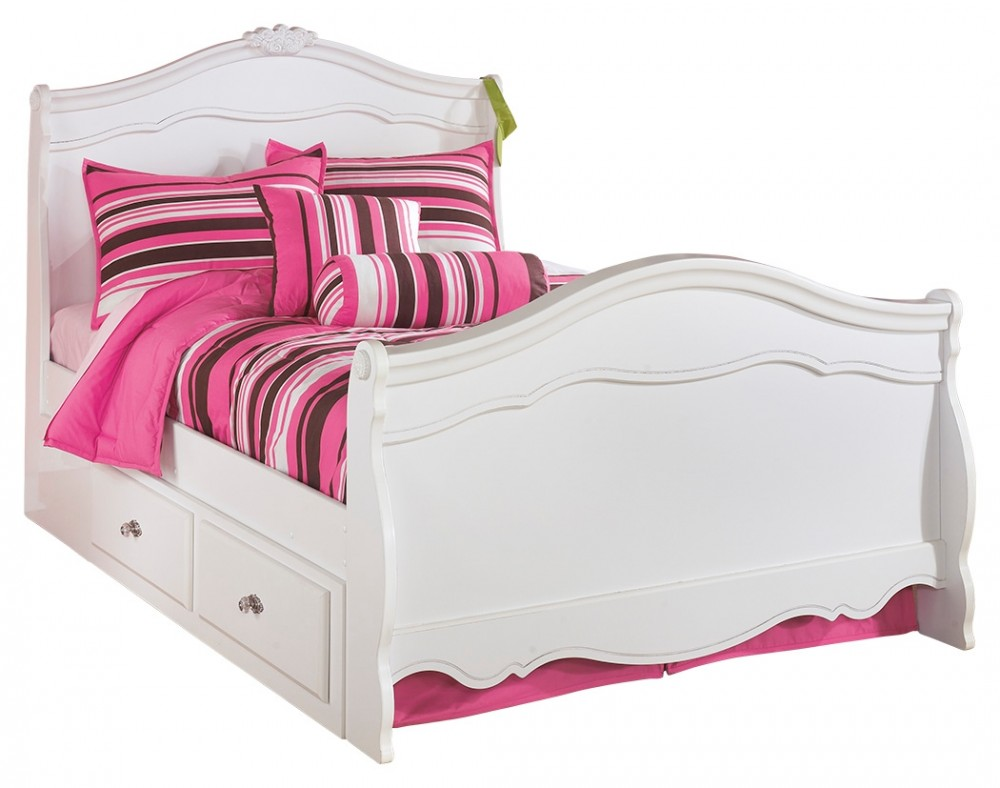 Exquisite - Exquisite Full Sleigh Bed with 2-Storage