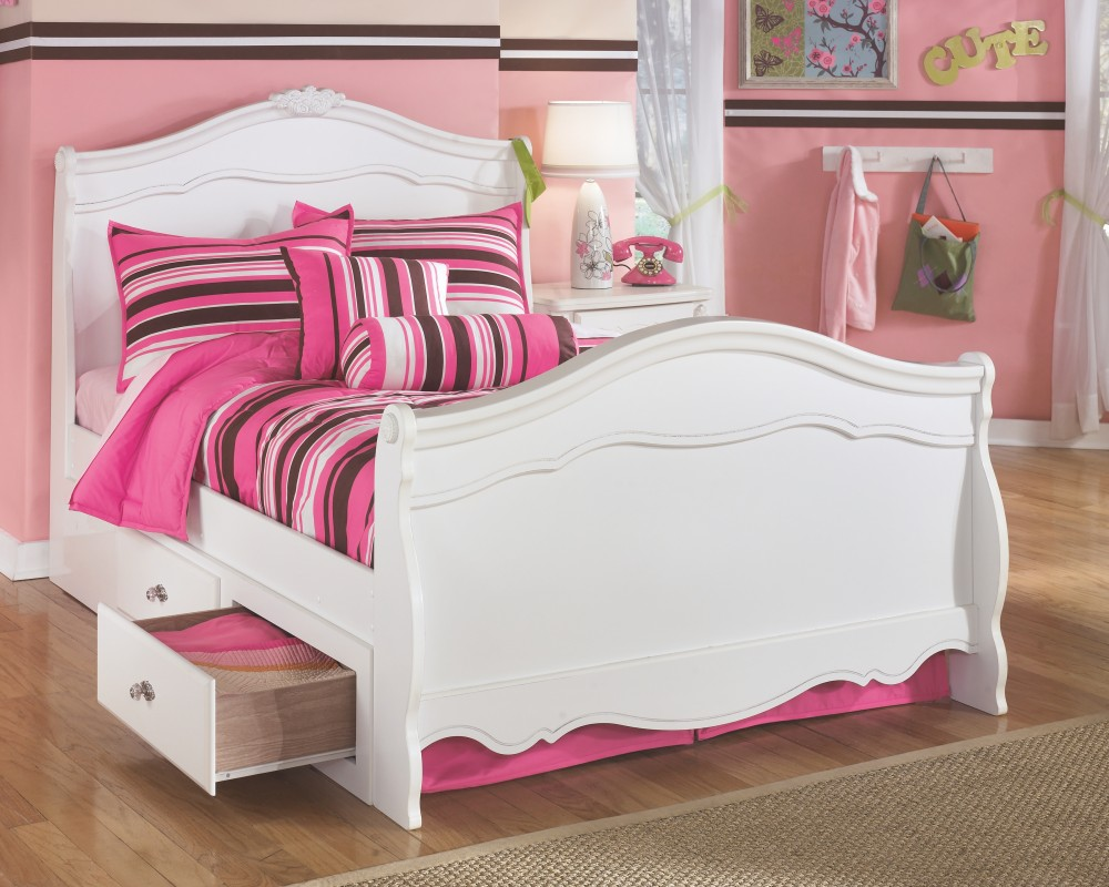 Exquisite Exquisite Full Sleigh Bed With 2 Storage