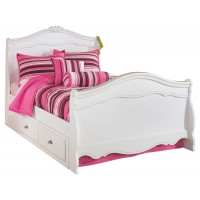Exquisite - Full Sleigh Bed with 2 Storage Drawers