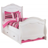 Exquisite Twin Poster Bed with Storage