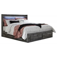 Baystorm - King Panel Bed with 4 Storage Drawers