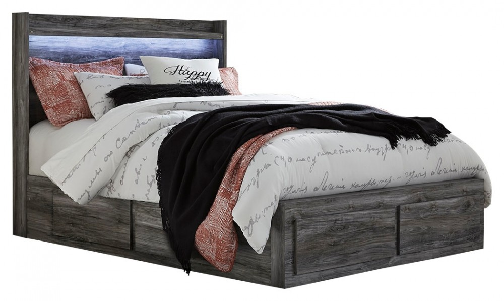 Baystorm - Queen Panel Bed with 6 Storage Drawers