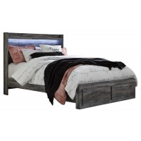 Baystorm - Queen Panel Bed with 2 Storage Drawers