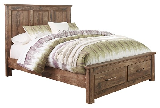 Blaneville - Queen Panel Bed with 2 Storage Drawers