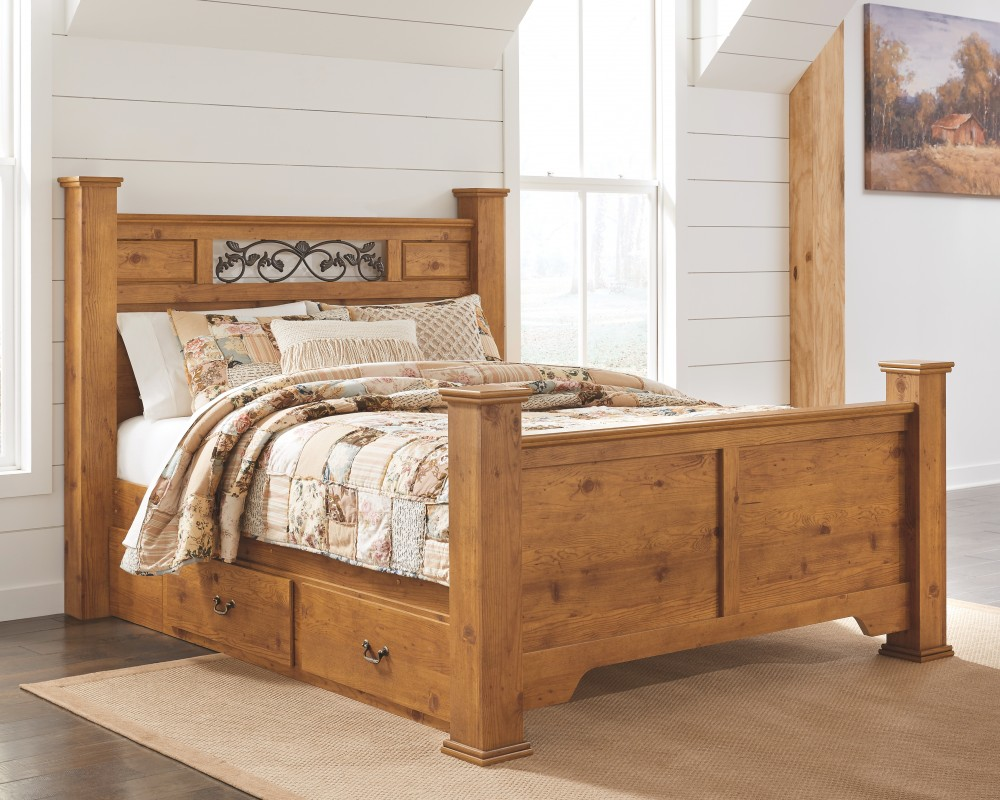 Bittersweet Queen Poster Bed With Storage B219b47 B21950