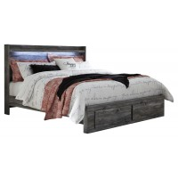 Baystorm - King Panel Bed with 2 Storage Drawers