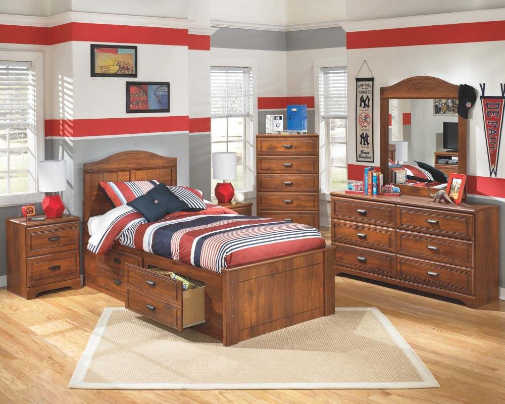 Barchan Barchan Twin Panel Bed With 2 Storage B228b12