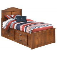 Barchan - Twin Panel Bed with 2 Storage Drawers