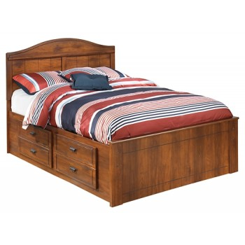 Barchan - Barchan Full Panel Bed with 2-Storage
