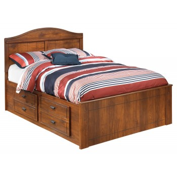 Barchan - Barchan Full Bookcase Bed with 2 Storage Drawers