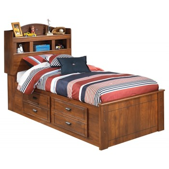 Barchan - Twin Bookcase Bed with 2 Storage Drawers