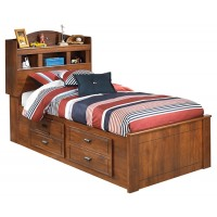 Barchan Twin Bookcase Bed with 2-Storage