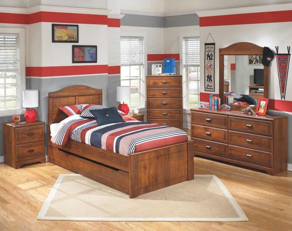 Barchan Barchan Twin Panel Bed With Trundle B228b9