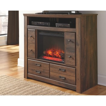 Quinden Media Chest with Fireplace