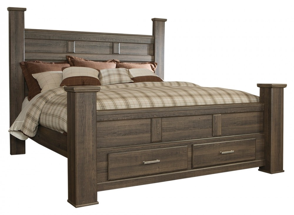 Juararo King Poster Bed with Storage