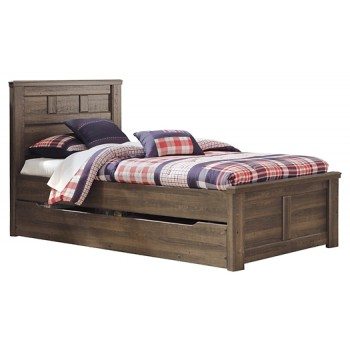 Juararo - Twin Panel Bed with Trundle or 1 Large Storage Drawer