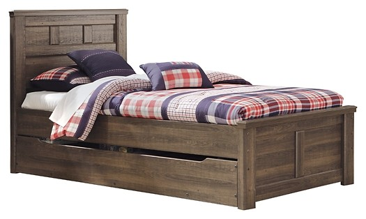 Juararo - Juararo Twin Panel Bed with Trundle or 1 Large Storage Drawer