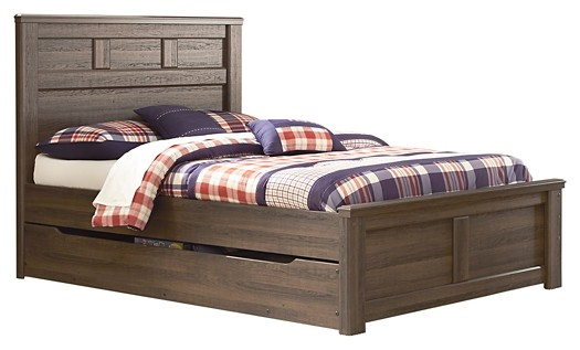 Juararo - Full Panel Bed with Trundle or 1 Large Storage Drawer