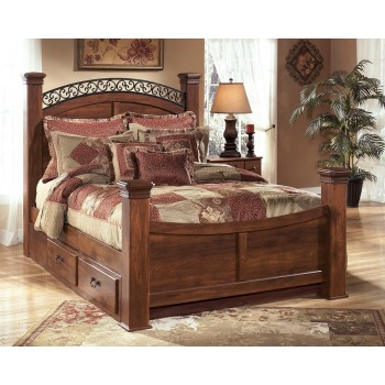 Timberline King Poster Bed with Storage