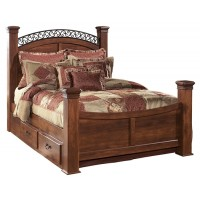 Timberline King Poster Bed with 2 Storages