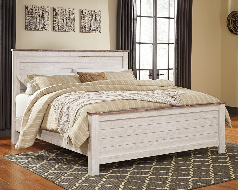 Willowton King Panel Bed B267b10 B26756 B26758 B26799 Complete Beds American Home