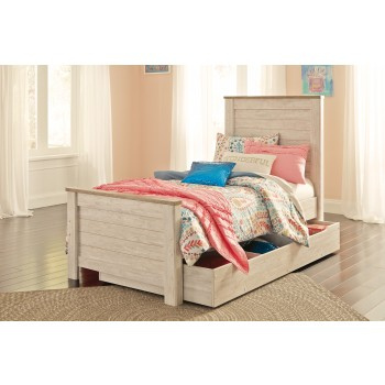 Willowton - Willowton Twin Panel Bed with Storage