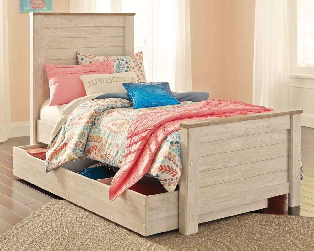 Willowton Willowton Twin Panel Bed With 1 Large Storage