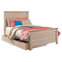 Willowton - Full Panel Bed with 1 Large Storage Drawer