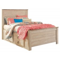 Willowton - Twin Panel Bed with 2 Storage Drawers