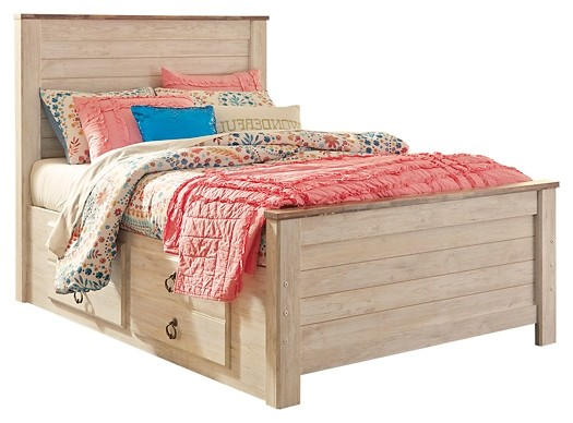 Willowton - Full Panel Bed with 2 Storage Drawers