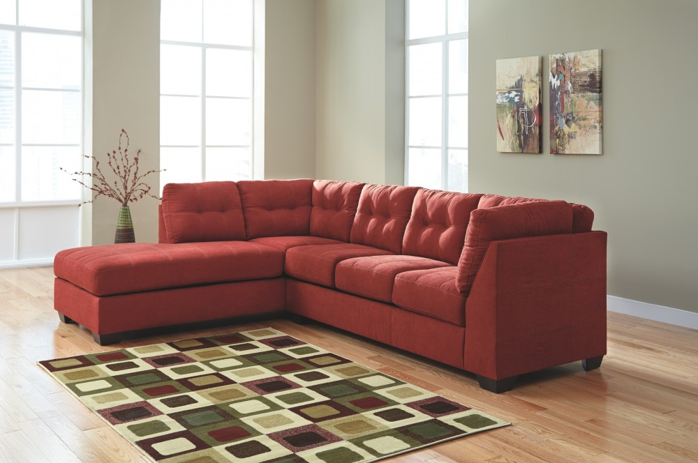 Maier 2 piece sectional with chaise 45202s1 16 67 - Apartment sofa with chaise ...