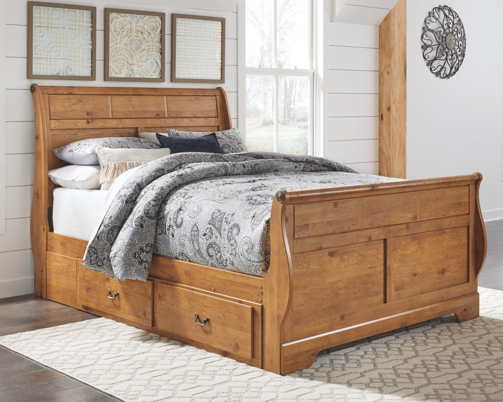 - Bittersweet - Queen Sleigh Bed With 2 Storage Drawers B219B58
