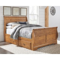 Bittersweet - Queen Sleigh Bed with 2 Storage Drawers