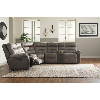 Hacklesbury - Hacklesbury 4-Piece Reclining Sectional with Power