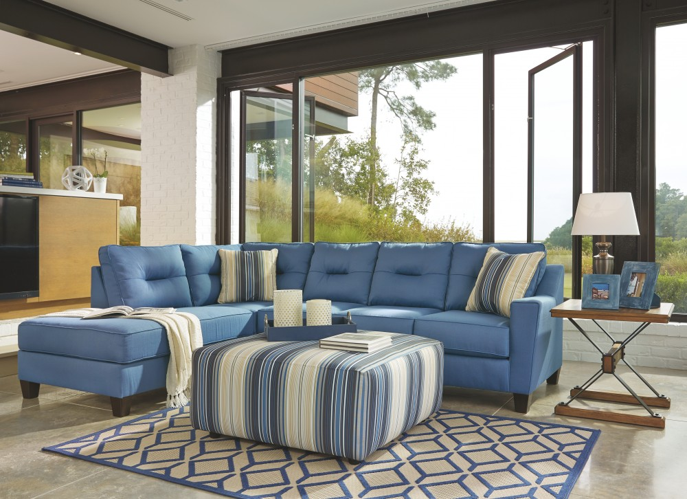 Kirwin Nuvella� 2-Piece Sectional with Chaise and Sleeper