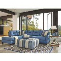Kirwin Nuvella 2-Piece Sectional with Chaise and Sleeper