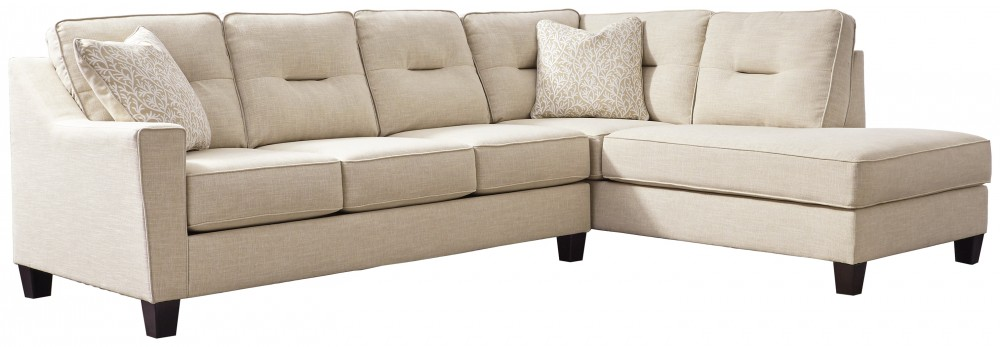 Magnificent Kirwin Nuvella 2 Piece Sectional With Chaise Home Interior And Landscaping Palasignezvosmurscom