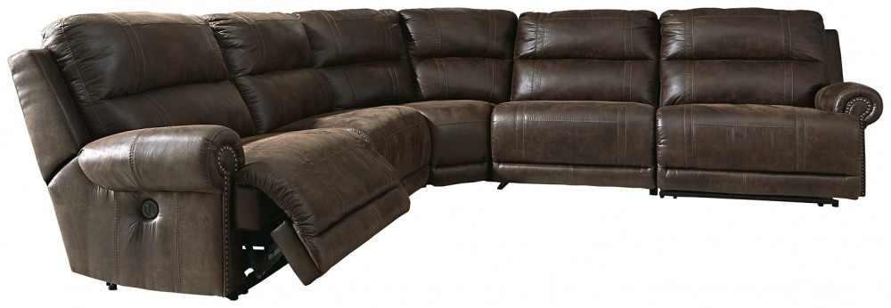 Luttrell - Luttrell 5-Piece Reclining Sectional with Power