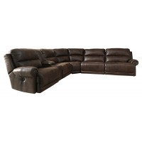 Luttrell - Luttrell 6-Piece Reclining Sectional with Power