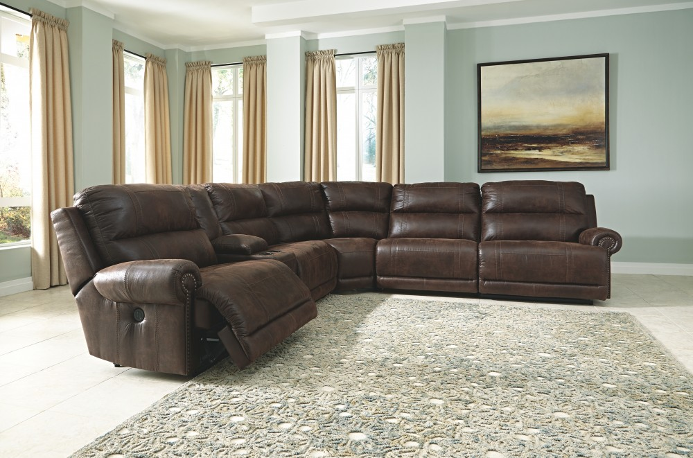Luttrell - 6-Piece Reclining Sectional