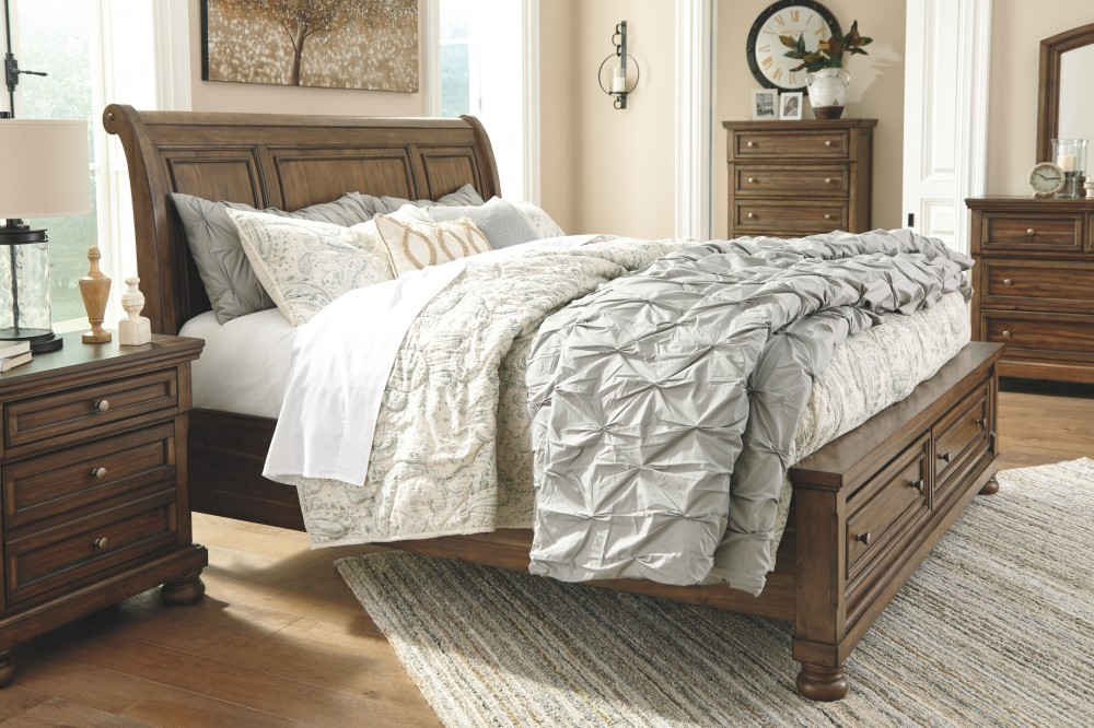 Outstanding Flynnter Flynnter California King Sleigh Bed With Storage Caraccident5 Cool Chair Designs And Ideas Caraccident5Info