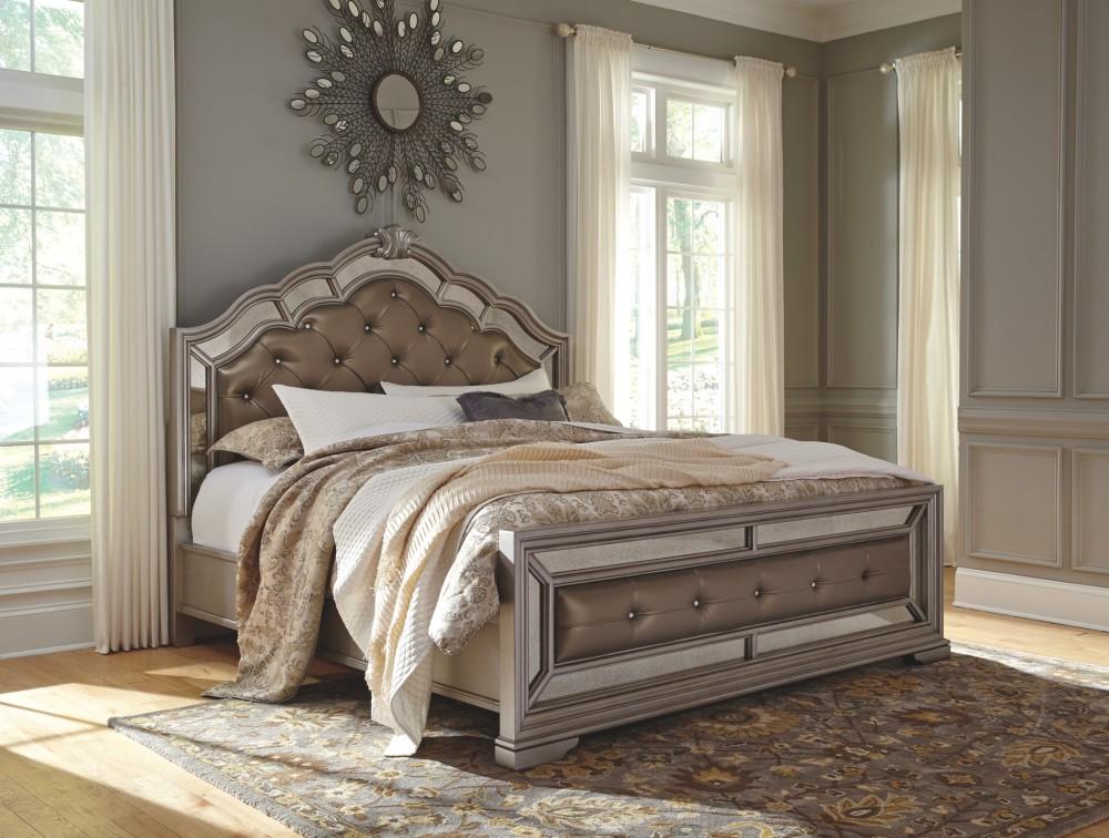 Complete Bedroom Furniture Sets: Birlanny King Panel Bed