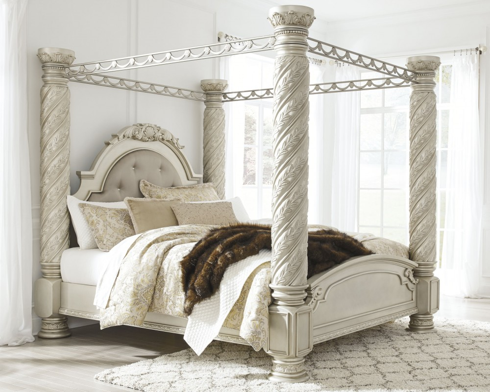 Cassimore Cassimore King Poster Bed With Canopy B750b5