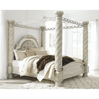 Cassimore - California King Poster Bed with Canopy