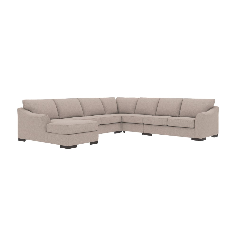 Bantry Nuvella 5-Piece Sectional with Chaise and Sleeper