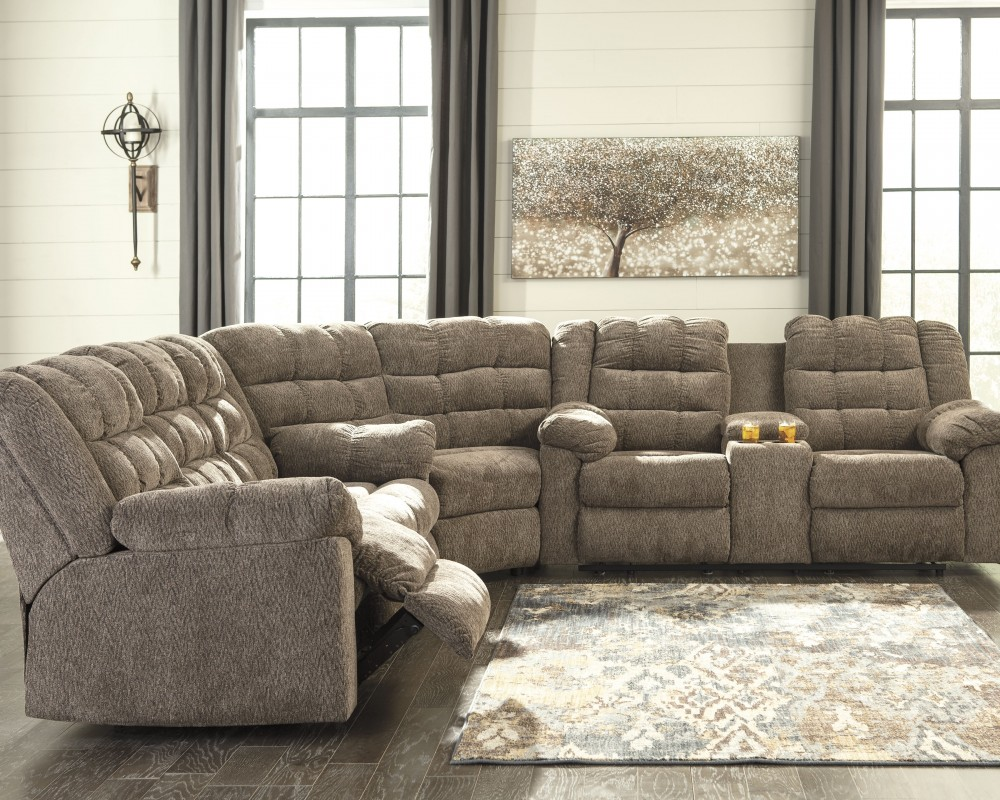 Workhorse 3 Piece Reclining Sectional 58401s1 77 88 94