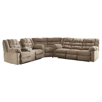 Workhorse - 3-Piece Reclining Sectional